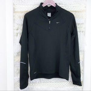 Nike Black Quarter Zip Pullover Top Long Sleeve